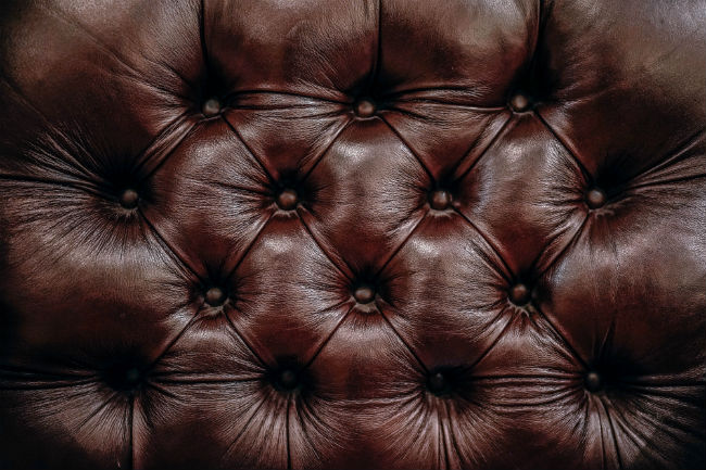 leather brown couch clean